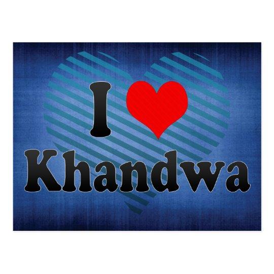 I Love Khandwa, India. Mera Pyar Khandwa, India Postcard
