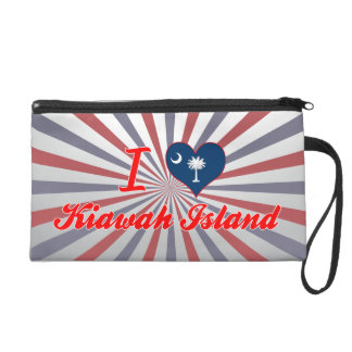 I Love Kiawah Island, South Carolina Wristlets
