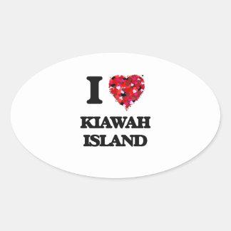 I love Kiawah Island South Carolina Oval Sticker