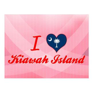 I Love Kiawah Island, South Carolina Postcard