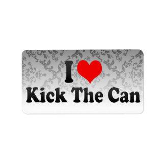 I love Kick The Can Custom Address Label