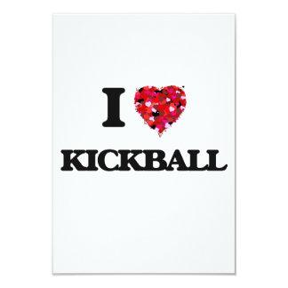 I Love Kickball 3.5x5 Paper Invitation Card