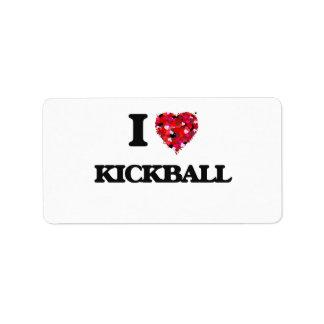 I Love Kickball Address Label