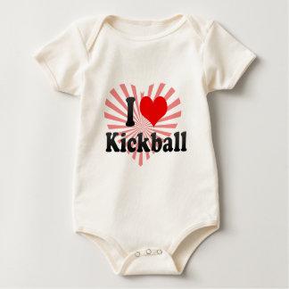 I love Kickball Baby Bodysuit