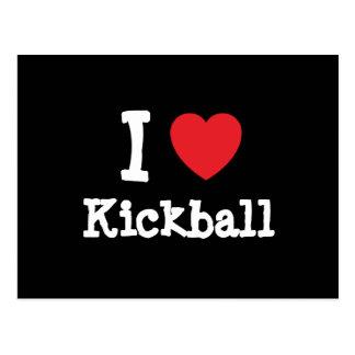 I love Kickball heart custom personalized Postcard