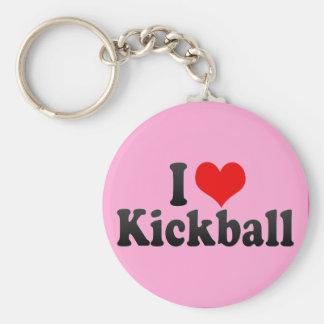 I Love Kickball Keychain
