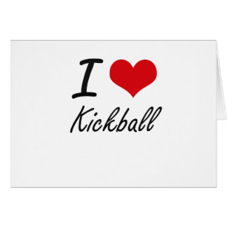 I Love Kickball Stationery Note Card