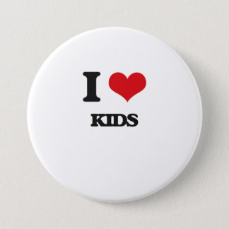 I Love Kids Button