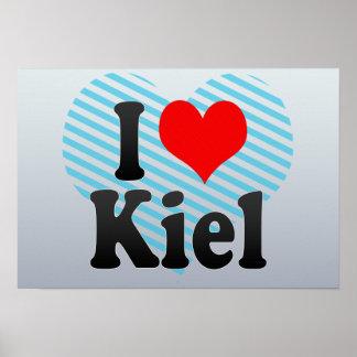 I Love Kiel Germany Ich Liebe Kiel Germany Poster