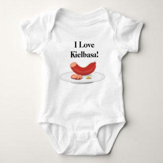 I Love Kielbasa Baby Bodysuit