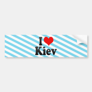 I Love Kiev Ukraine Bumper Sticker