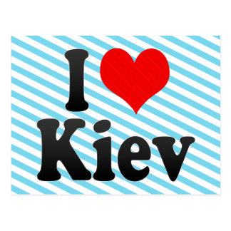 I Love Kiev, Ukraine Postcard