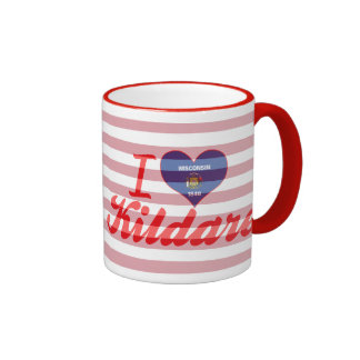 I Love Kildare, Wisconsin Ringer Coffee Mug