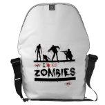 i love kill zombies messenger bag