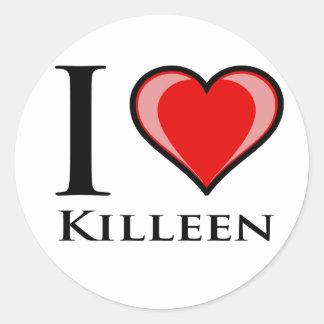 I Love Killeen Round Sticker
