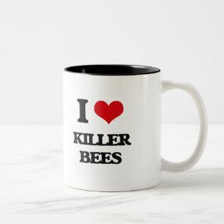 I love Killer Bees Two-Tone Coffee Mug