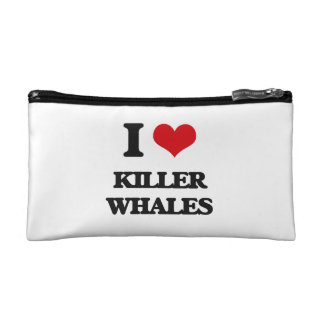 I love Killer Whales Makeup Bags