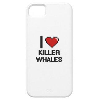 I love Killer Whales Digital Design iPhone 5 Cases