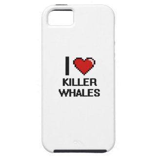 I love Killer Whales Digital Design iPhone 5 Covers