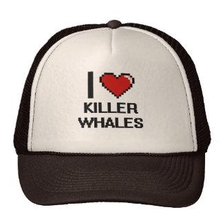 I love Killer Whales Digital Design Trucker Hat