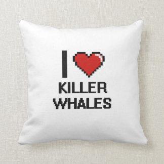 I love Killer Whales Digital Design Pillows