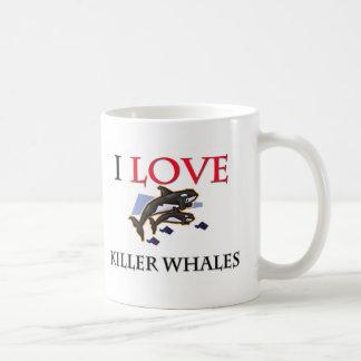 I Love Killer Whales Mugs