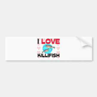 I Love Killifish Bumper Sticker