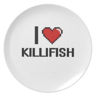 I love Killifish Digital Design Dinner Plate
