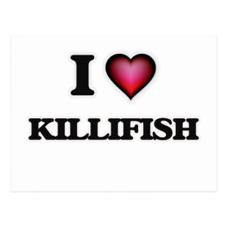 I Love Killifish Postcard