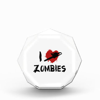 I love Killing Zombies Acrylic Award