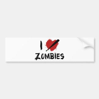 I Love Killing Zombies Bumper Stickers