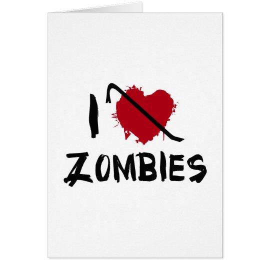 I love Killing Zombies Card
