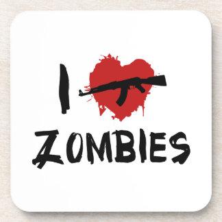 I Love Killing Zombies Drink Coaster