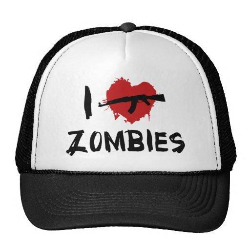I Love Killing Zombies Mesh Hat