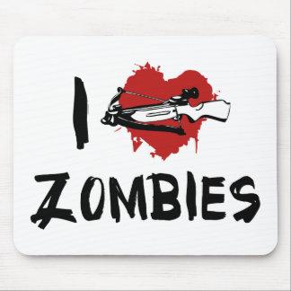 I Love Killing Zombies Mouse Pad