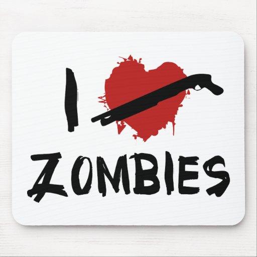 I Love Killing Zombies Mousepad