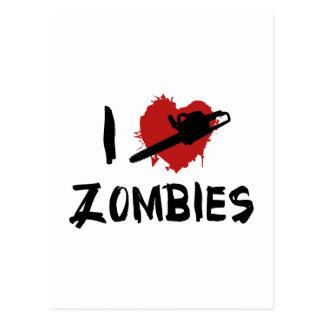 I love Killing Zombies Post Card