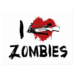 I Love Killing Zombies Postcard