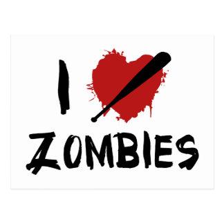 I Love Killing Zombies Post Cards