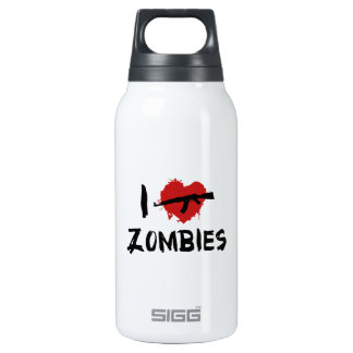I Love Killing Zombies Thermos Water Bottle