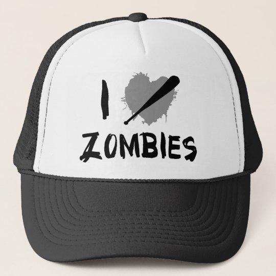 I Love Killing Zombies Trucker Hat