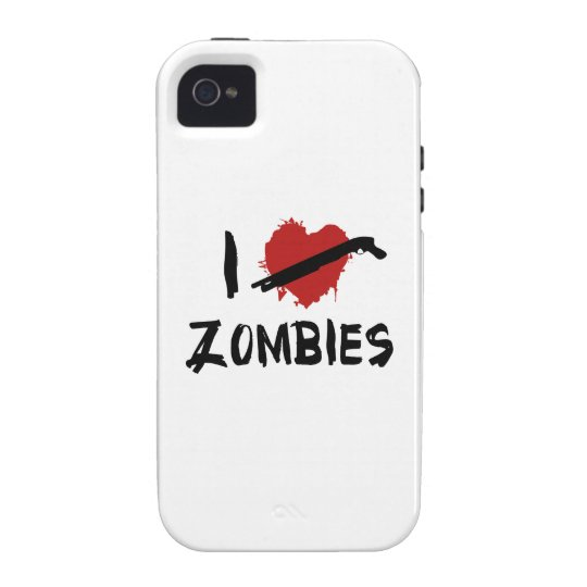 I Love Killing Zombies Vibe iPhone 4 Cover