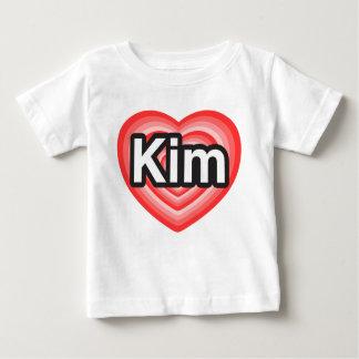 I love Kim. I love you Kim. Heart Baby T-Shirt