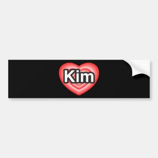 I love Kim. I love you Kim. Heart Bumper Sticker