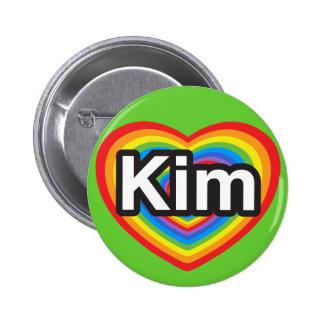 I love Kim. I love you Kim. Heart Pins