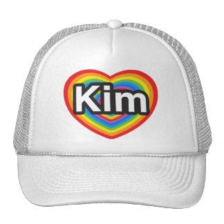 I love Kim. I love you Kim. Heart Mesh Hats