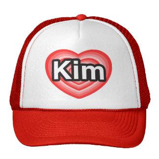 I love Kim. I love you Kim. Heart Hats