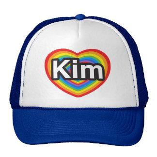 I love Kim. I love you Kim. Heart Mesh Hat