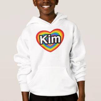 I love Kim. I love you Kim. Heart Hoodie