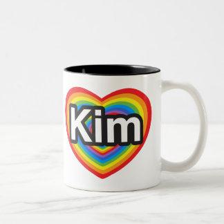 I love Kim. I love you Kim. Heart Mug